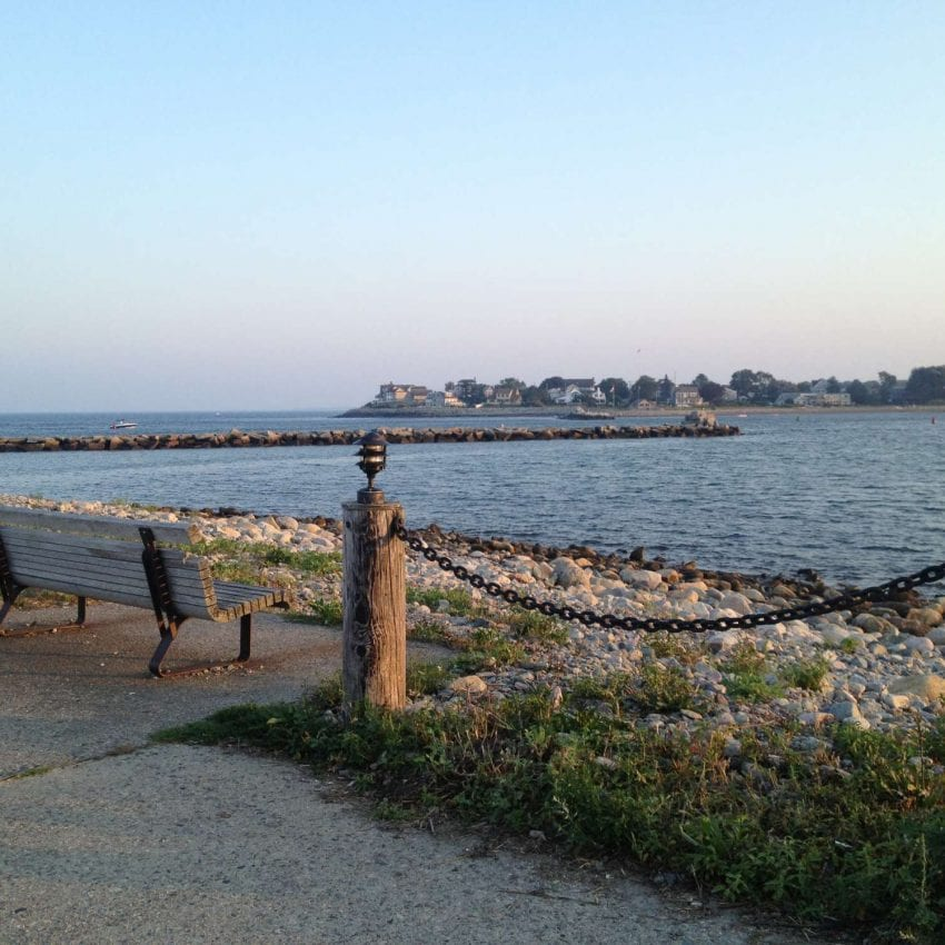 scenic Lighthouse Road in Scituate, MA
