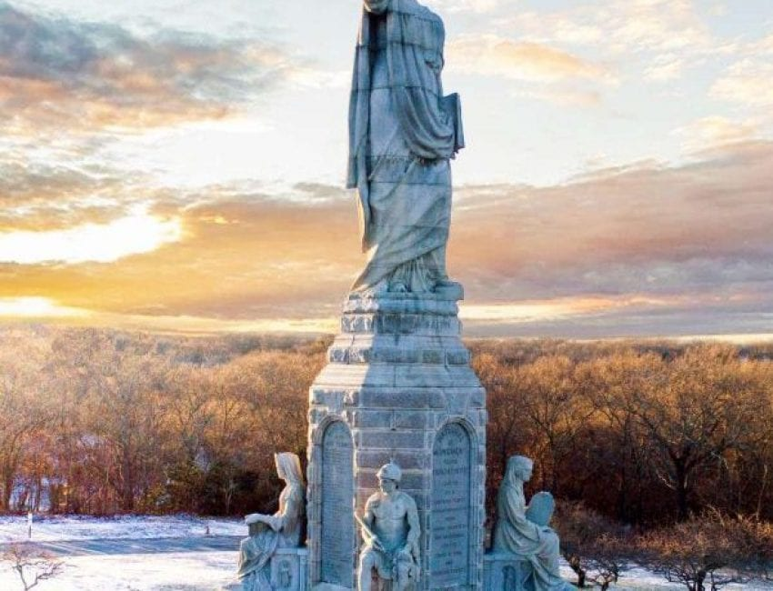 Forefathers Monument Hawk Visuals