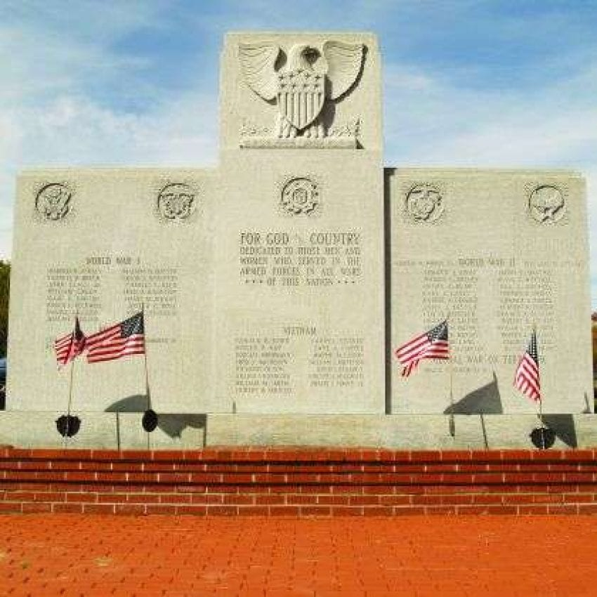 Middleborough Veterans Memorial Park War Memorial