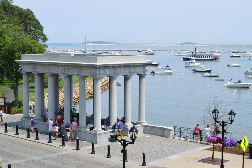 Plymouth Rock Portico, Photo Ted Curtin