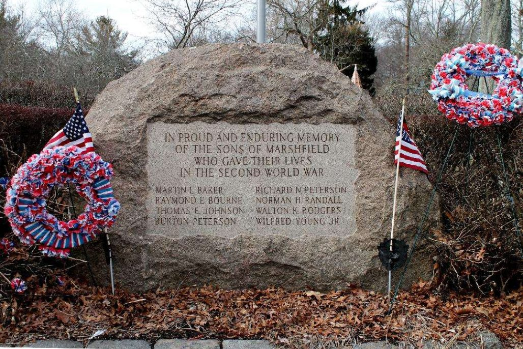 Marshfield Mass World War 2 Veterans Memorial