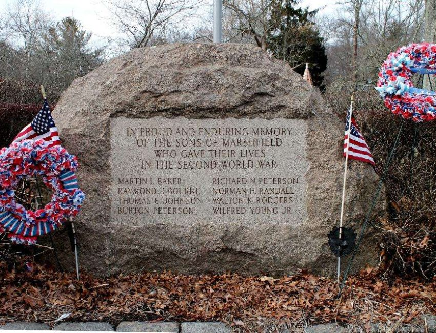 Marshfield Mass World War 2 Veterans Memorial