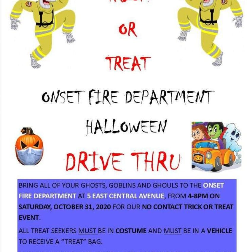 Onset Fire Dept Drive Thru Trick or Treat