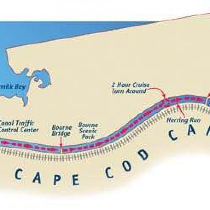 Hy-line Cape Cod Canal Cruise map