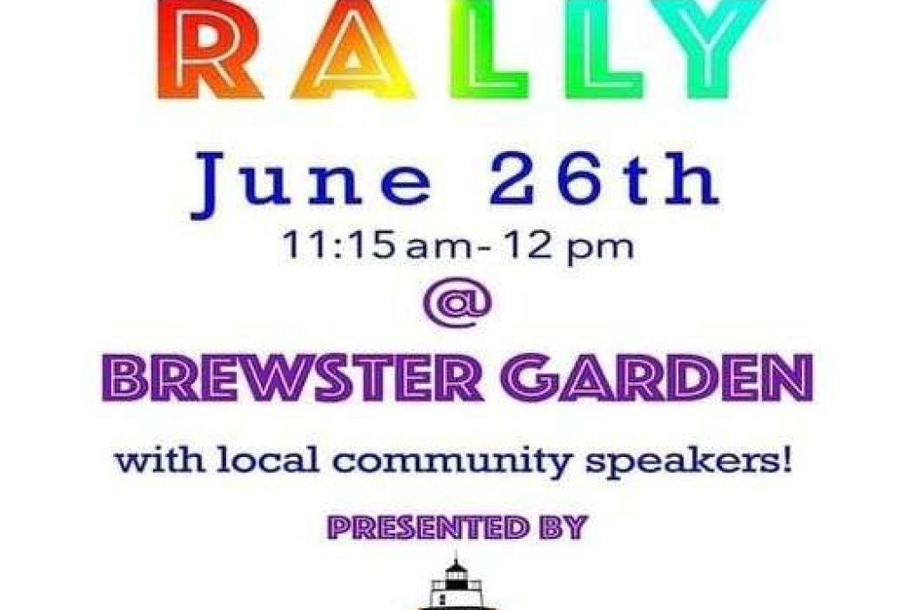 Pride Rally at Brewster Gardens